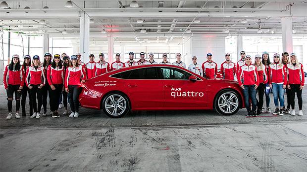 Das ÖSV Team ist auch in der Saison 2019/20, wie schon in den vergangenen zehn Jahren, in Audi Fahrzeugen unterwegs. (Foto: © Audi)