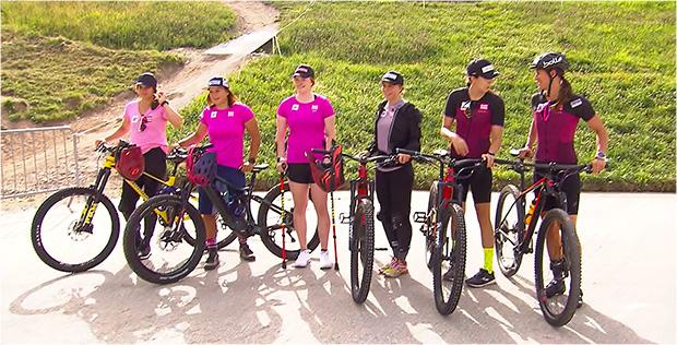 Noch 100 Tage bis zum Saisonstart: ÖSV Damen auf dem Flow-Trail in Schladming unterwegs