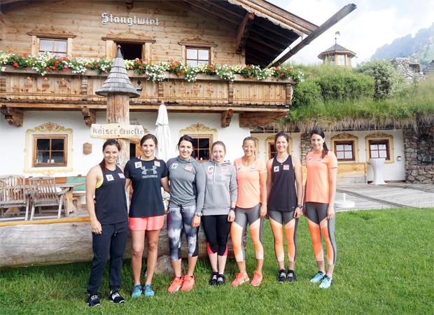 """Die Athletinnen der """"Back to Race""""-Gruppen trainierten zuletzt beim Stanglwirt. (Foto: Stanglwirt)"""