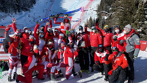 Das gesamte Team zeigte eine starke Leistung (Foto: © ÖSV)