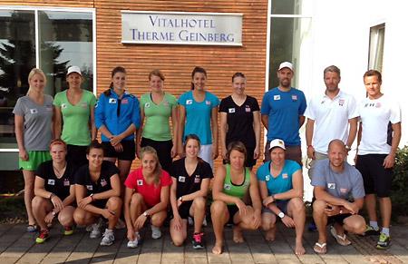 Das Team der Europacup Damen absolvierte zuletzt einen Konditionskurs in Geinberg. (Foto: ÖSV)