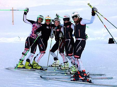 Die Europacup Damen genossen die perfekten Schnee- und Pistenbedingungen in Sölden. (Foto: ÖSV)