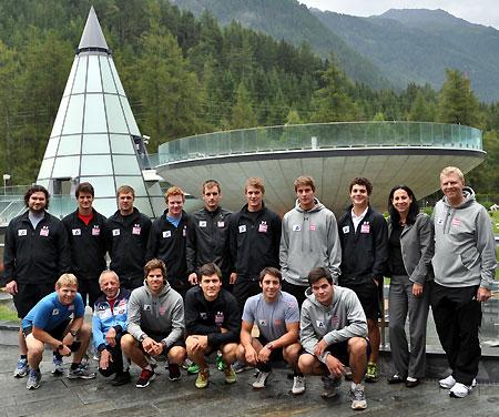 Die Europacup-Herren beim Konditionskurs in Längenfeld. (Foto: Aqua Dome)