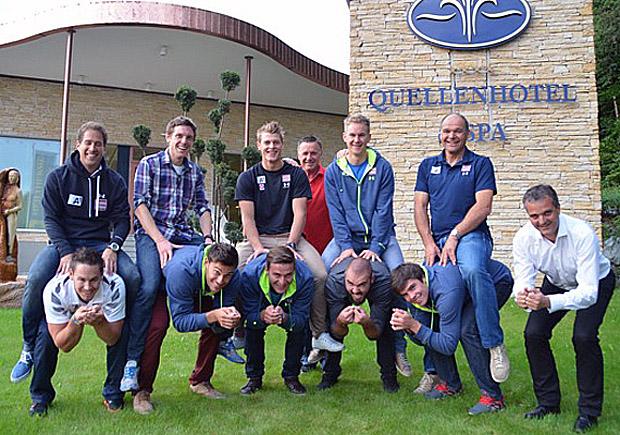 Das Team von Coach Willi Zechner freute sich über perfekte Bedingungen. (Foto:ÖSV)