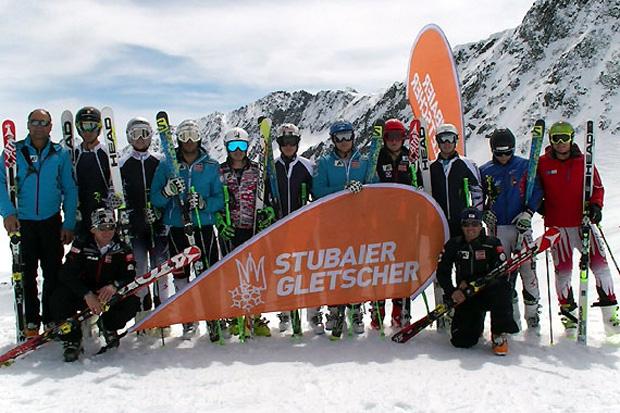 Die Europacup-Speedgruppe absolvierte ihren zweiten Trainingsblock am Stubaier Gletscher. (Foto: ÖSV)