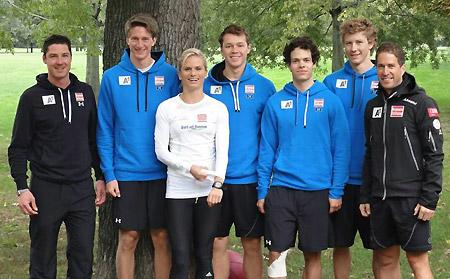 Im Wiener Prater stand ein Schnelligkeitstraining mit Leichtathletik-Staatsmeisterin Elisabeth Niedereder auf dem Programm. (Foto: ÖSV)