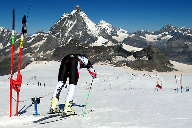 Der Kärntner Christian Walder und seine Europacup-Speedkollegen fanden in Zermatt perfekte Trainingsbedingungen vor. ( Foto: ÖSV)