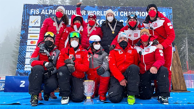 Die Damen feierten einen Dreifach-Erfolg im Super-G. (Foto: © ÖSV / Schrammel)