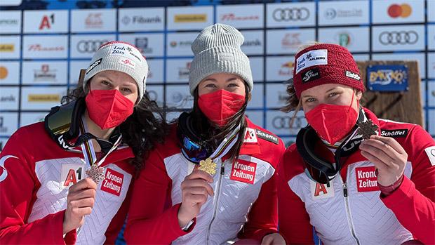 Junioren-Ski-WM 2021: Lena Wechner kürt sich zur Junioren-Weltmeisterin in Bansko (Foto: © ÖSV / Schrammel)