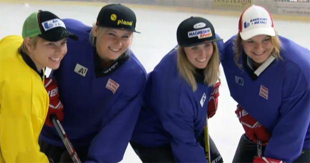 ÖSV Speed-Damen bewegen sich auf glattem Eis