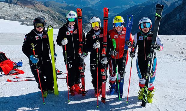 Erstes Schneetraining der ÖSV Speed-Damen (© Foto: ÖSV)