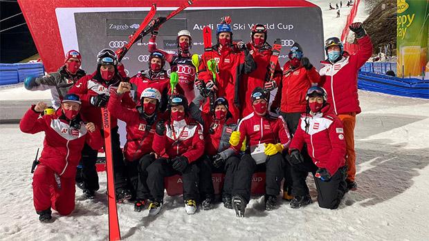 Das #austriapowerteam machte heute seinem Namen alle Ehre (Foto: © ÖSV)