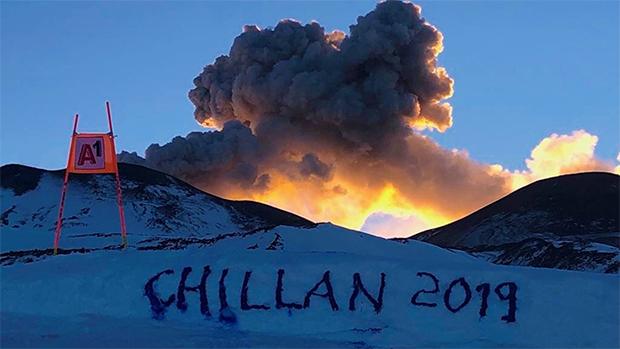 Eine komplett neue Erfahrung neben dem aktiven Vulkan zu trainieren. (Foto: © ÖSV)