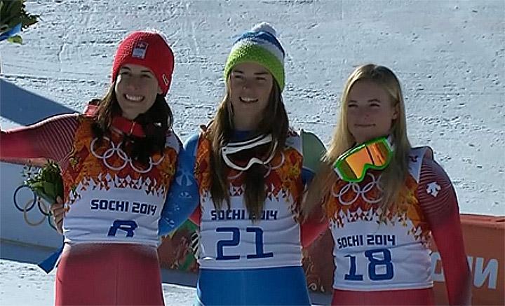 Dominique Gisin, Tina Maze, Lara Gut