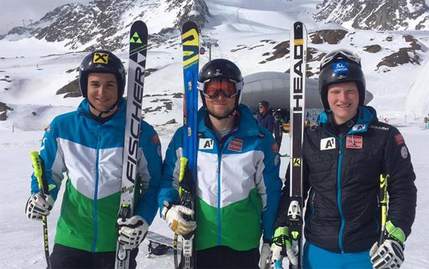 Sebastian Arzt ist Österreichischer Meister in der Abfahrt - 2. Slaven Dujakovic und 3. Stefan Babinsky (Foto: ÖSV / Facebook)