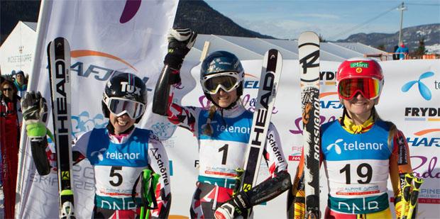 © JWM Hafjell Organisation / Am 07.März 2015 krönte sich Nina Ortlieb zur Riesenslalom Junioren Weltmeisterin.