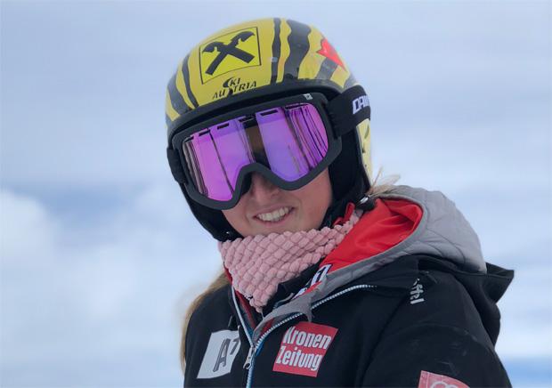 """Nina Ortlieb im Skiweltcup.TV-Interview: """"Ich möchte 'Danke, Papa!' sagen!"""" (Foto: Nina Ortlieb / privat)"""