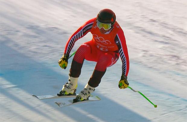 Manuel Osborne-Paradis mit Torfehler Schnellster im 1. Olympischen Abfahrtstraining in Jeongseon