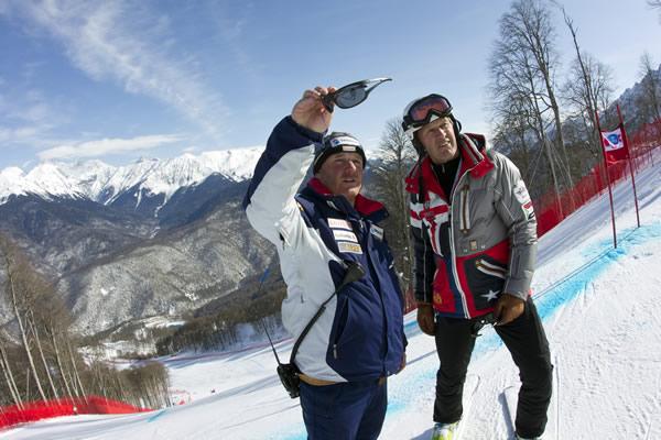 © EMMI - FIS Ski Alpin Weltcup / Osi Inglin und Bernhard Russi in Krasnaya Polyan