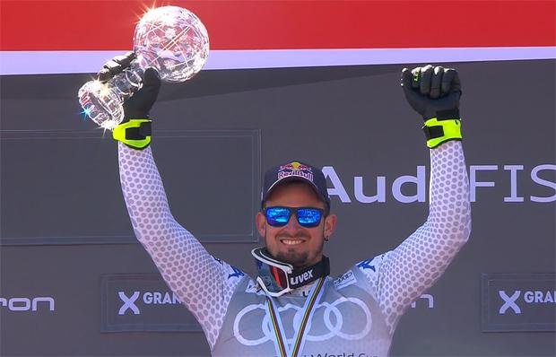 Dominik Paris krönt seinen ausgezeichneten Super-G-Winter mit Kristall