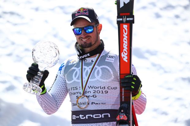 Super-G Weltcupsieger Domenik Paris freute sich über die Auszeichnung bei der Schneegala (© Archivo FISI/Pentaphoto/Alessandro Trovati)