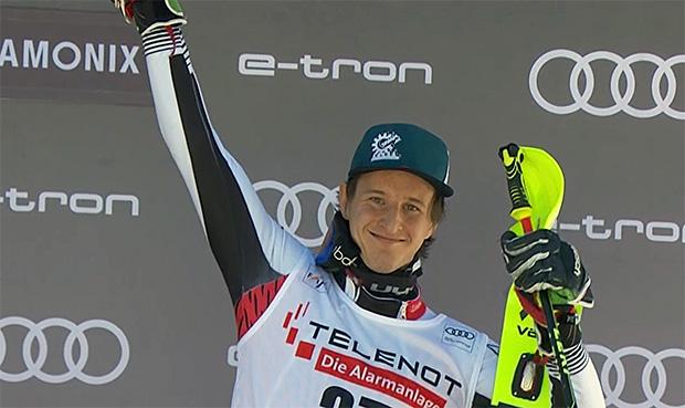 In Chamonix jubelte Adrian Pertl über sein erstes Weltcup-Podest.