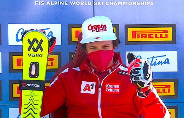 Ski WM 2021: Adrian Pertl übernimmt Führung beim WM-Slalom in Cortina d'Ampezzo