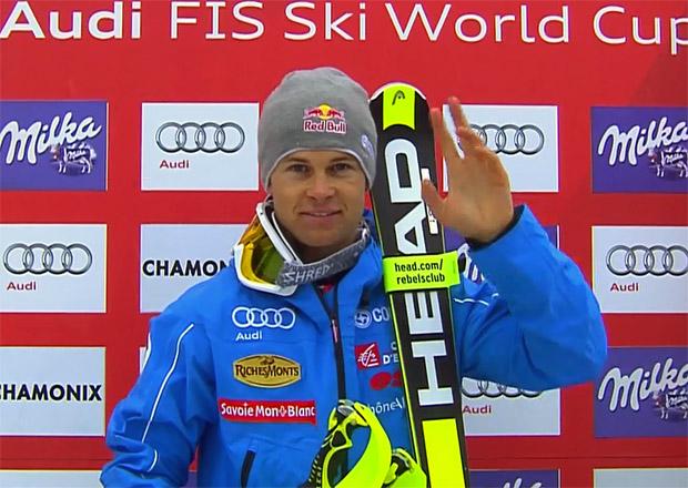 Alexis Pinturault übernimmt nach dem Slalom Führung bei der Kombi in Chamonix