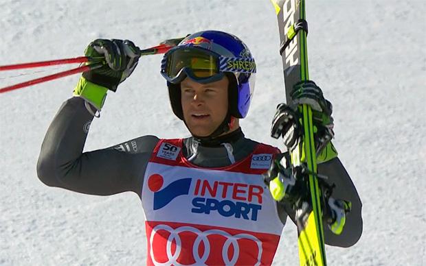 Alexis Pinturault mit gebrochenen Mittelhandknochen in Val d'Isère zum Sieg