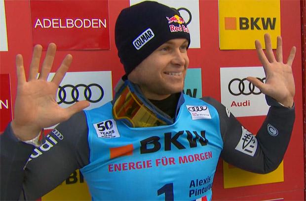 Alexis Pinturault führt nach Lauf 1 im Riesentorlauf von Adelboden