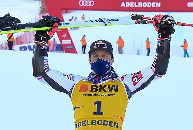 Alexis Pinturault gewinnt Riesenslalom in Adelboden am Freitag