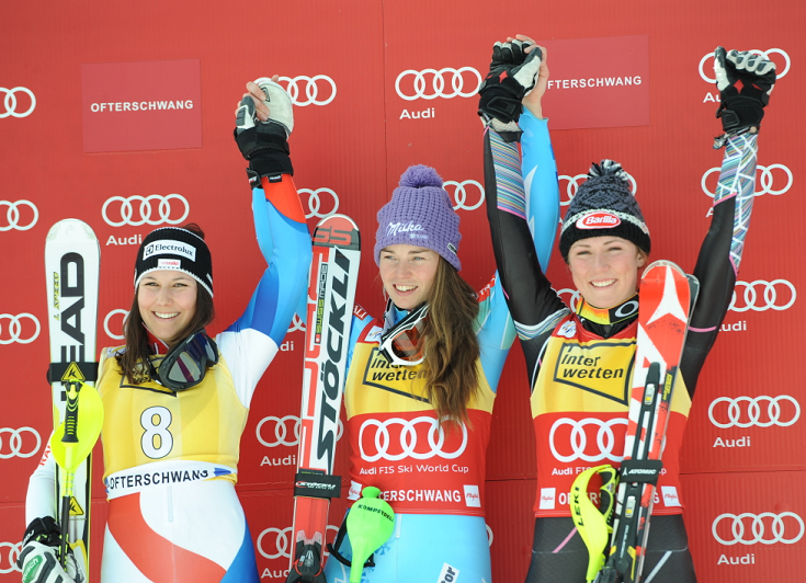 © Ch. Einecke (CEPIX)  /  Ofterschwang Slalom Podest 2013