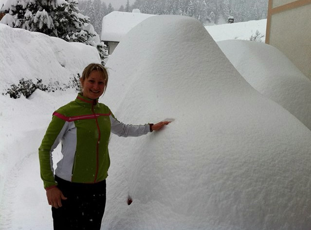 © facebook / Tanja Poutiainen bei der Auto suche in Kranjska Gora