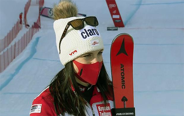 Ski-WM 2021: Mirjam Puchner entscheidet verkürzte 1. Abfahrtsprobelauf in Cortina d'Ampezzo für sich