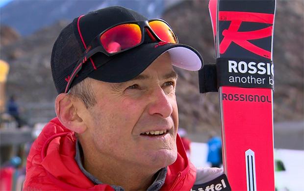 Andreas Puelacher freute sich über eine perfekte Piste auf dem Pitztaler Gletscher