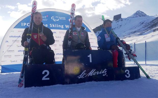 Roman Rabl macht's schon wieder! Sieg bei den sitzenden Herren beim ersten World Para Alpine Skiing WC Riesentorlauf in St. Moritz!!! (Foto: www.austria-skiteam.at)