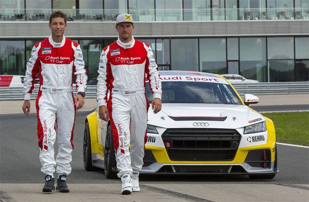 © AUDI AG / Ski-Asse Max Franz und Benni Raich im Audi Sport TT Cup