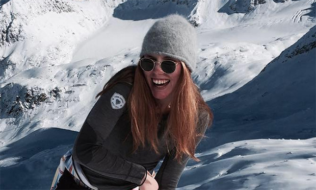 Schwedin Sara Rask krönt sich zur Riesentorlauf Junioren-Weltmeisterin 2020 (Foto: © Sara Rask / Facebook)