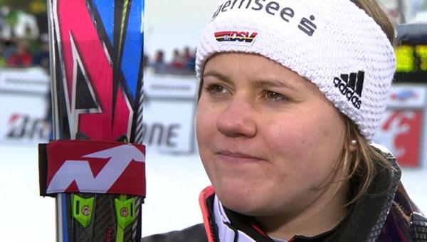 Viktoria Rebensburg (SC Kreuth) konnte sich im Finaldurchgang steigern und fuhr als Dritte auf das Podium.