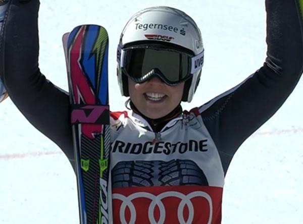 Viktoria Rebensburg gewinnt auch 2. Riesenslalom in Ofterschwang