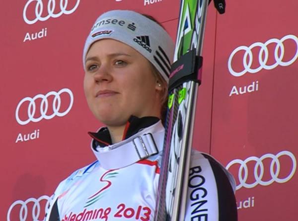 Viktoria Rebensburg feiert in Schladming ersten Super G Sieg