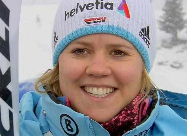Vicky Rebensburg, Maria Höfl-Riesch und Mikaela Shiffrin wünschen Anna Fenninger gute Besserung
