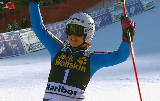 Flachau-Siegerin Viktoria Rebensburg gewinnt auch Riesenslalom in Maribor