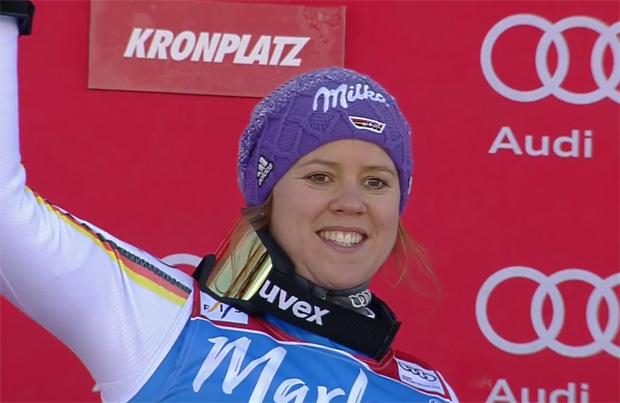 Viktoria Rebensburg gewinnt Riesenslalom auf dem Kronplatz