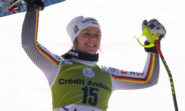 Viktoria Rebensburg gewinnt Super-G in Soldeu