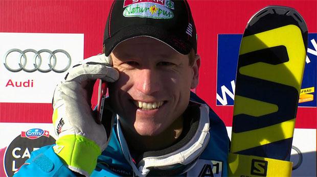 Hannes Reichelt hat auch im 2. Garmisch-Training die Nase vorn