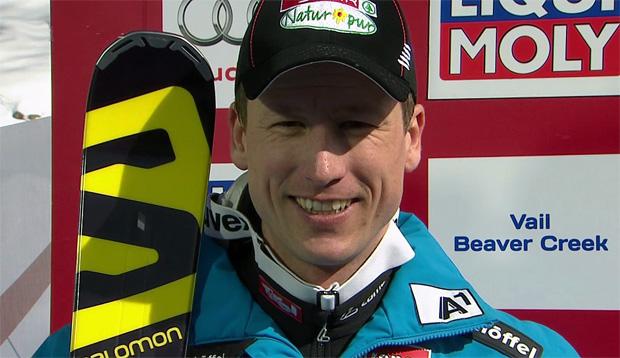 Hannes Reichelt mit Bestzeit beim 1. Abfahrtstraining in Garmisch Partenkirchen.