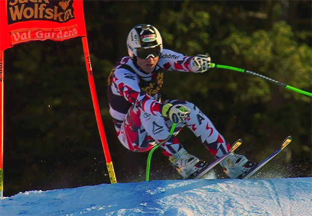 Hannes Reichelt hat im ersten Santa Caterina-Zeitlauf die Nase vorn