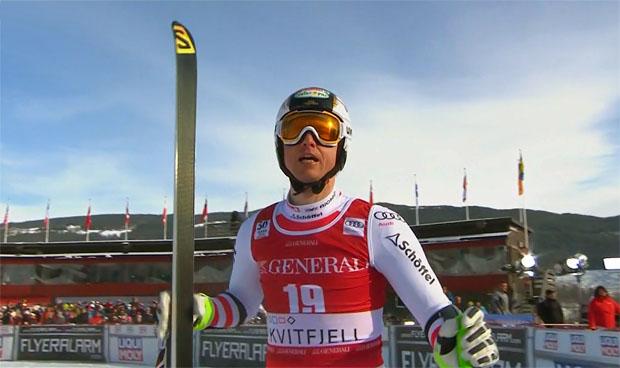 Hannes Reichelt mit 0,10 Sek. Rückstand in Kvitfjell Super-G Zweiter