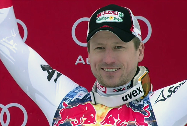 Hannes Reichelt mit Tagesbestzeit beim 1. Abfahrtstraining in Kvitfjell